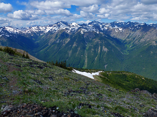 Views from Buckhorn Pass just before reaching Marmot Pass